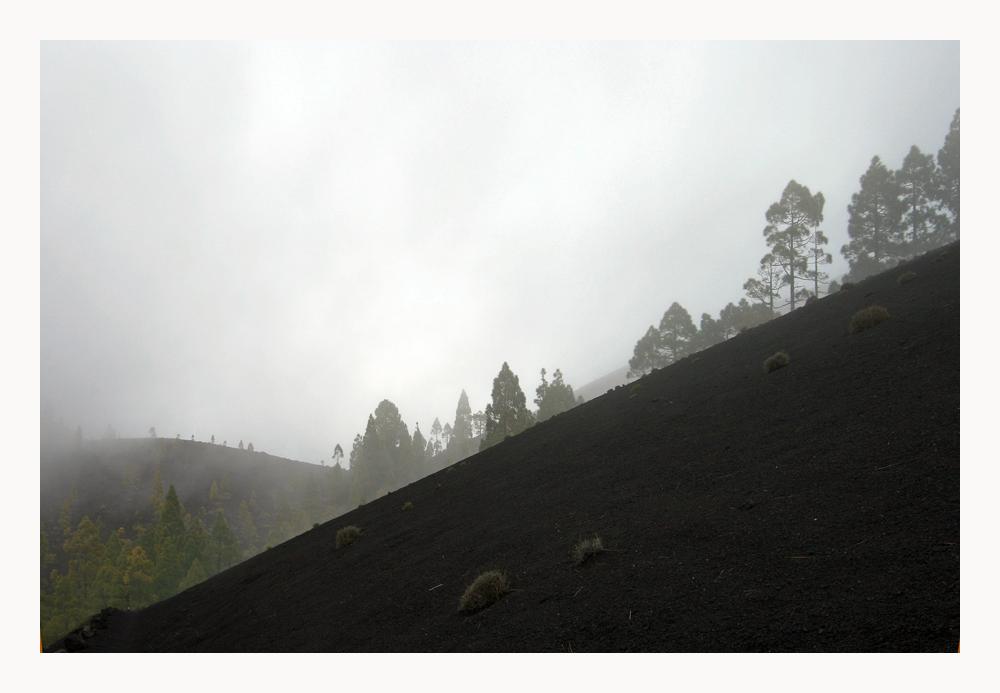 Nebel und Wind am Weg zum Vulkan St. Martin