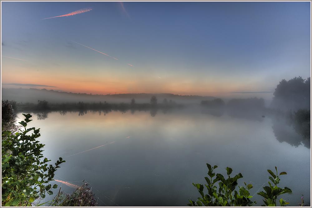 Nebel vor Sonnenaufgang