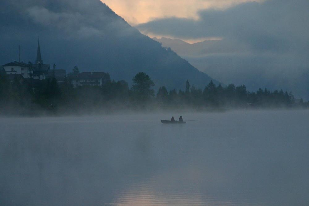 Nebelfischer am Weissensee