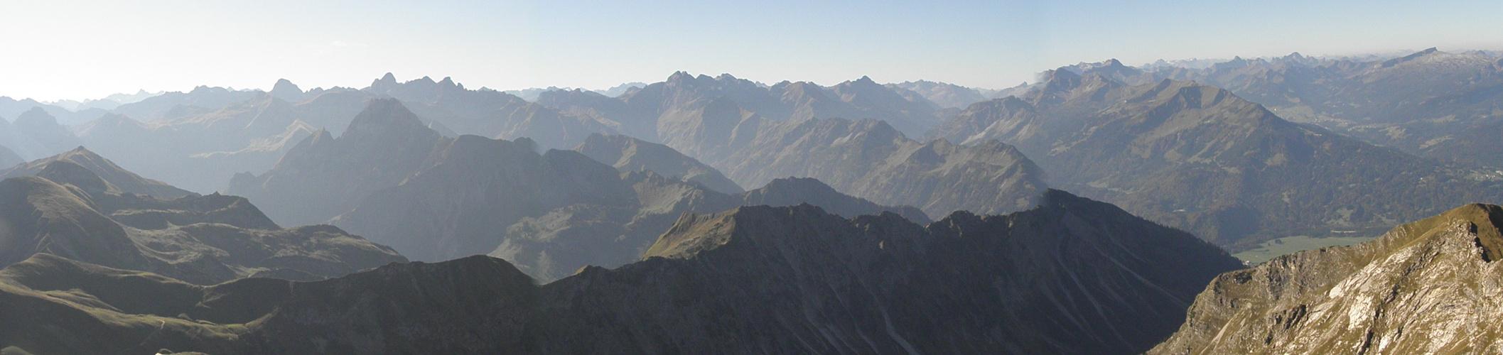 Nebelhorn-Gipfelpanorama
