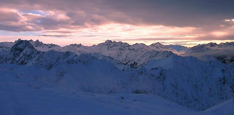 Nebelhorn in schöner Wolkenform