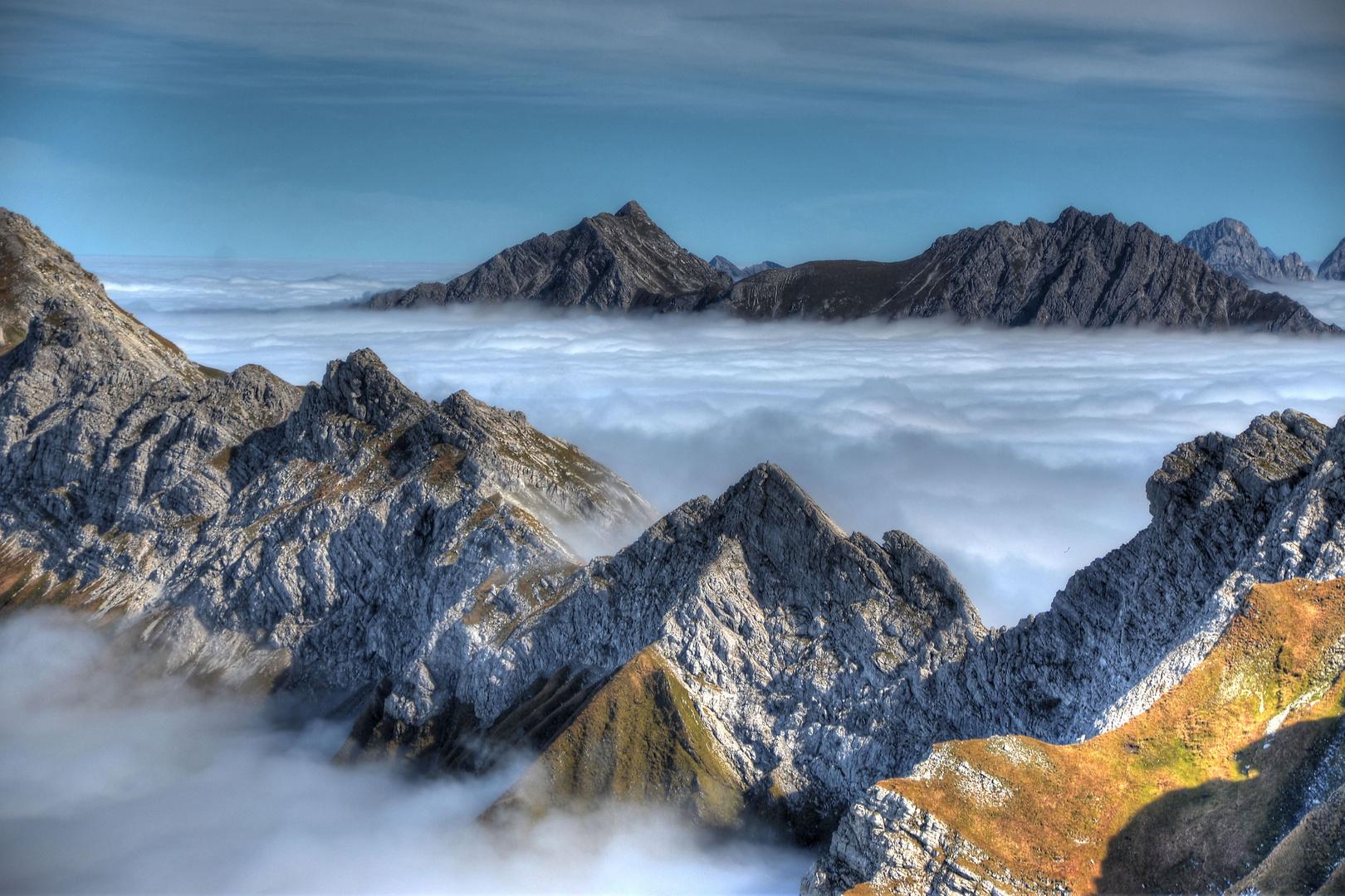 Nebelhorn und Nebelmeer