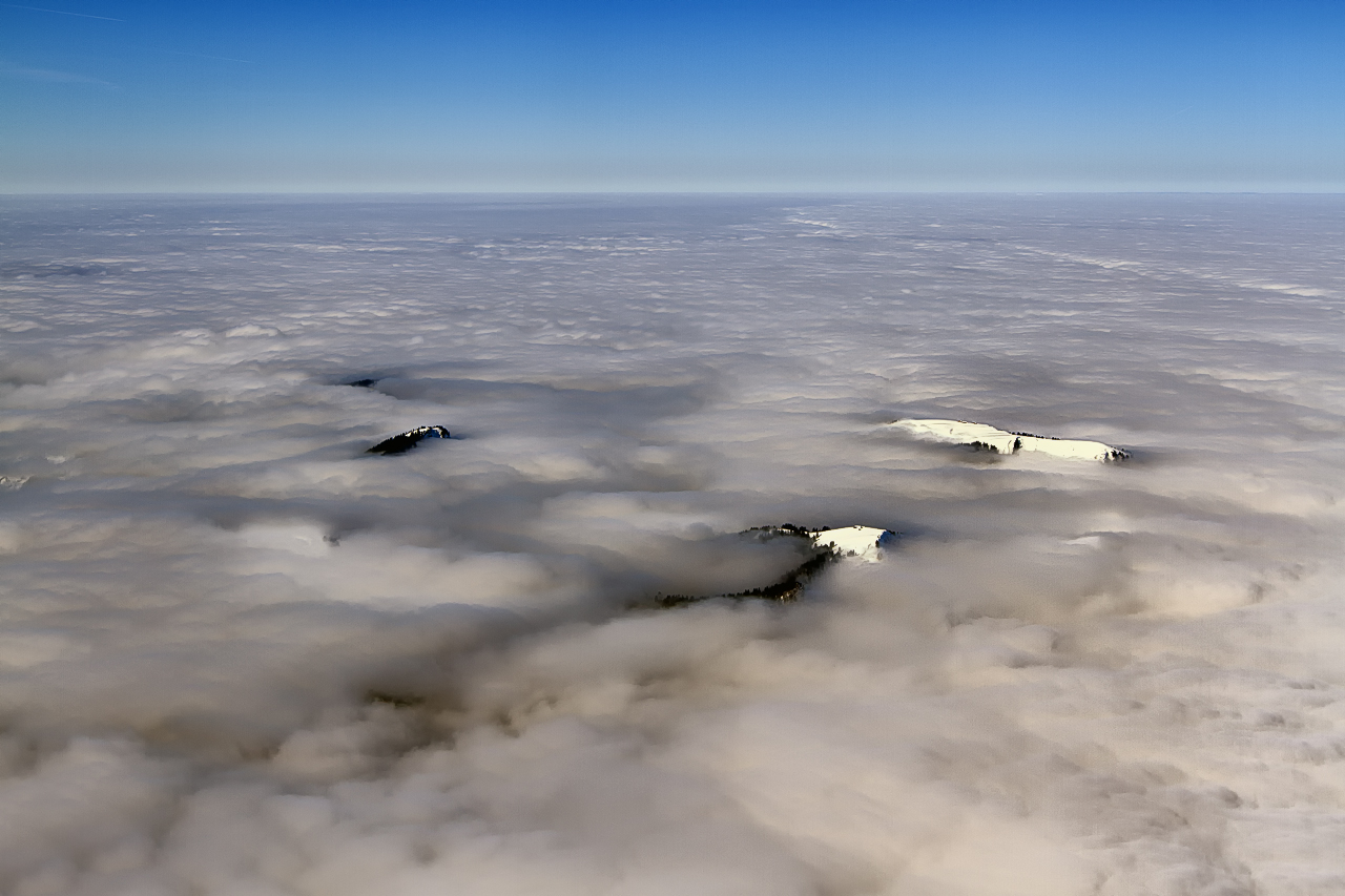 Nebelmeer Blick nach NW