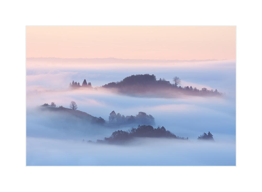 Nebelmeer über der Südsteiermark