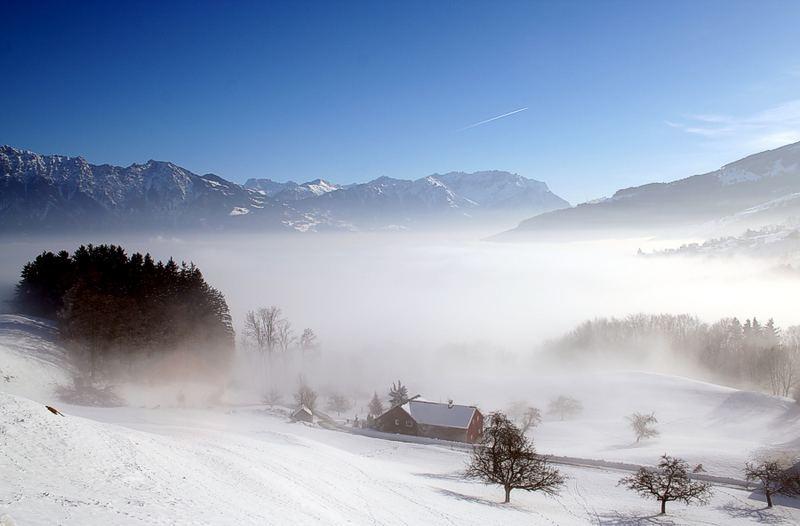 Nebelmeer überm Rheintal