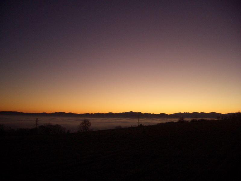 Nebelmeer um 07.41 Uhr