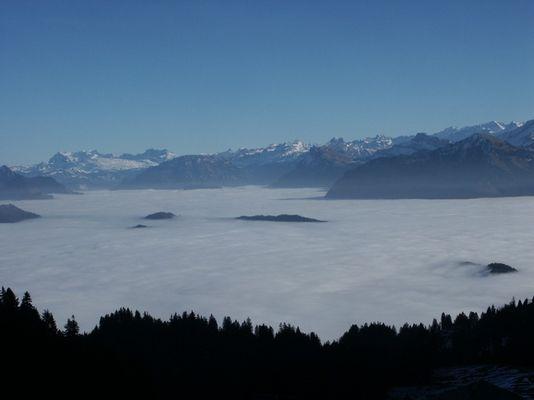 Nebelmeer vom Pilatus bei Luzern