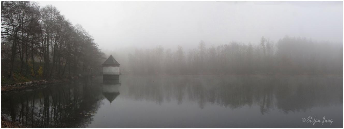 Nebelmorgen am Itzenplitzer Weiher