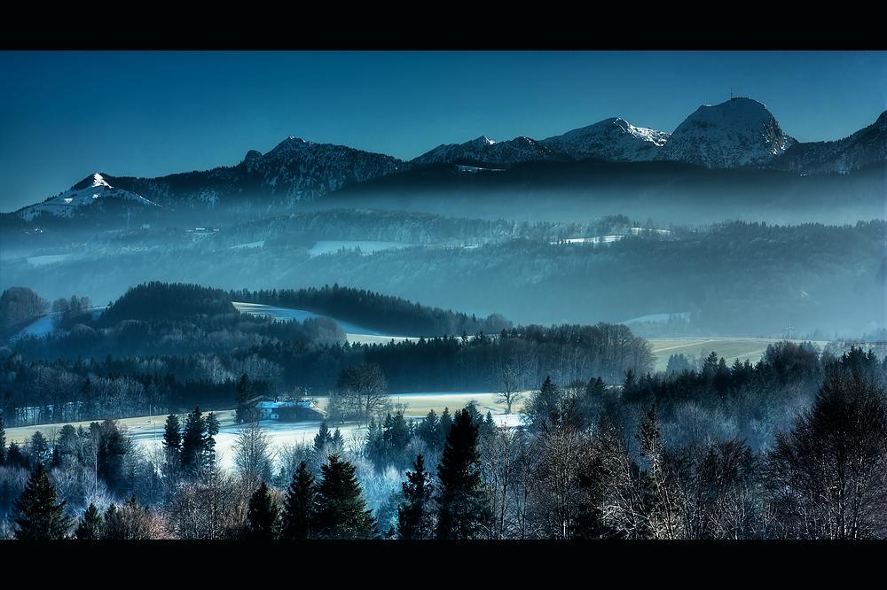 Nebelschwaden vor dem Wendelstein I