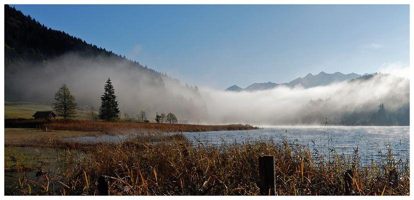 Nebelstimmung am Geroldsee