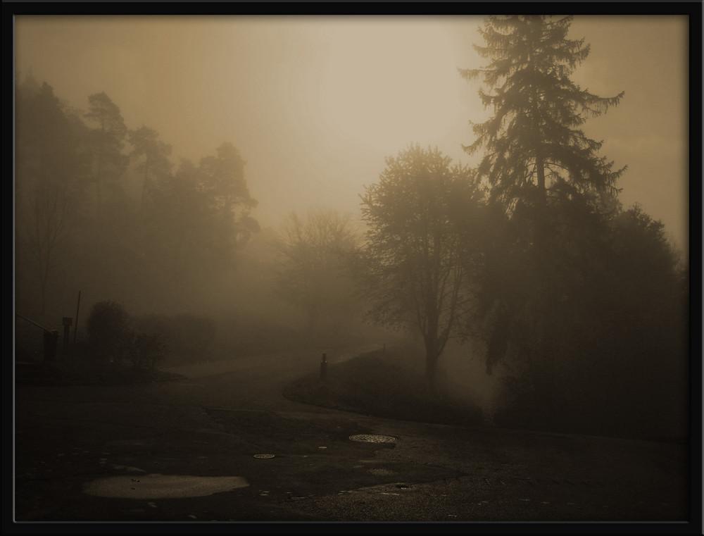 Nebelstimmung in Eisenach , das zweite