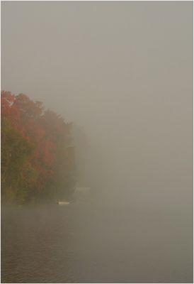 Nebliger Morgen am Lake Placid (2)