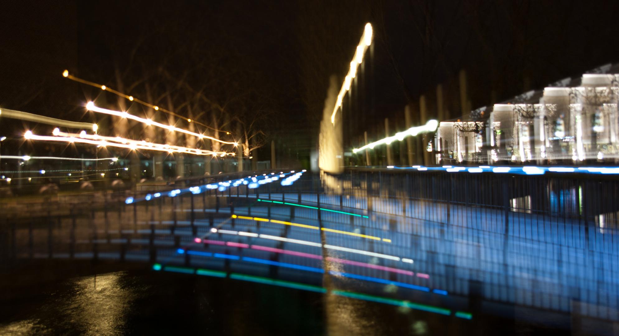 Neckarbrücke bei der Experimenta gezoomt