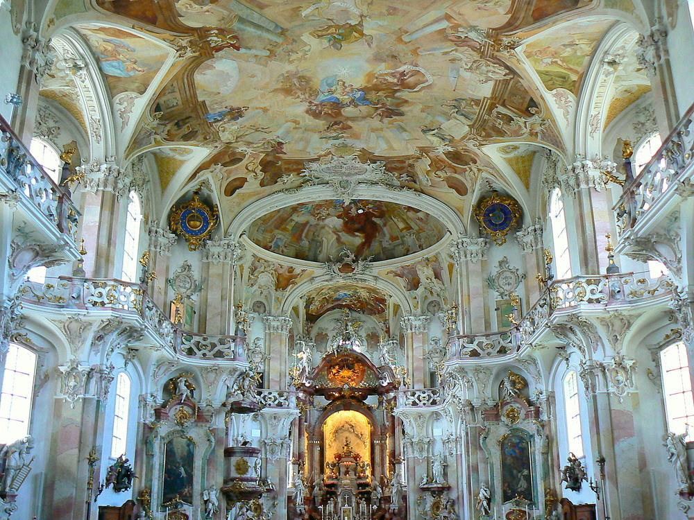 Nef de l 39 eglise baroque de burnau photo et image for L architecture baroque