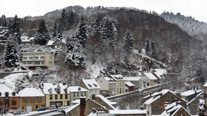 Neige à la Bourboule (Auvergne)