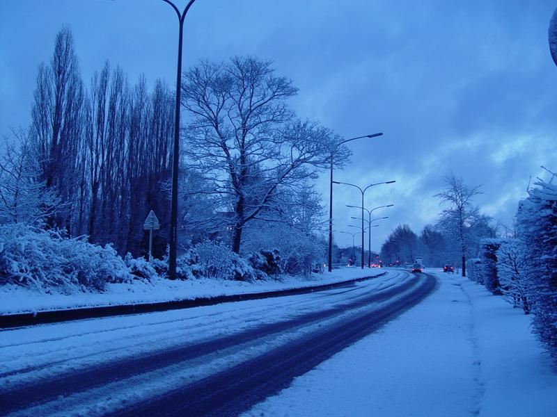 Neige à Woluwé saint Pierre