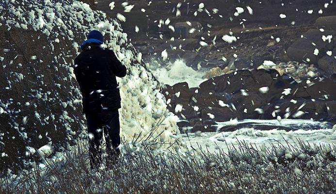 Neige bretonne formée par l'écume