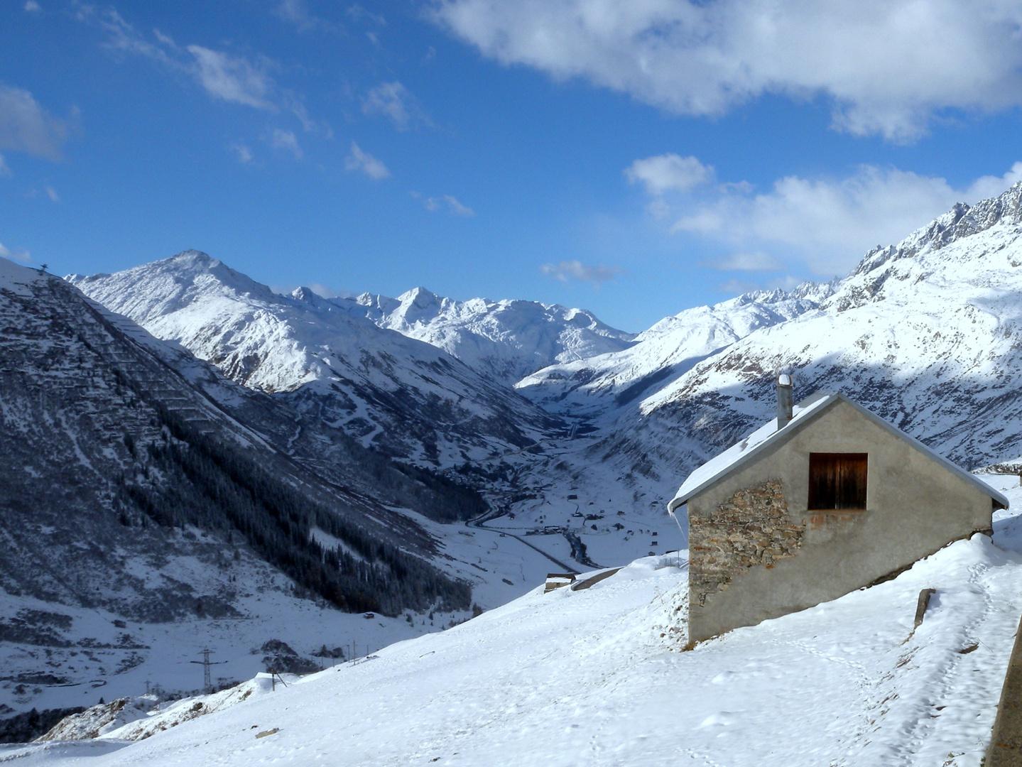 neige et ciel bleu..03