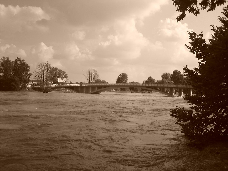 Neiße-Hochwasser in Bad Muskau