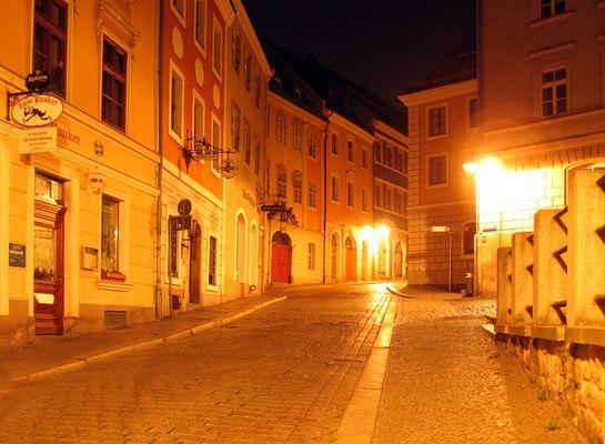 Neißstraße bei Nacht