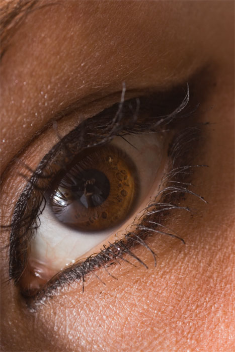 nell'occhio