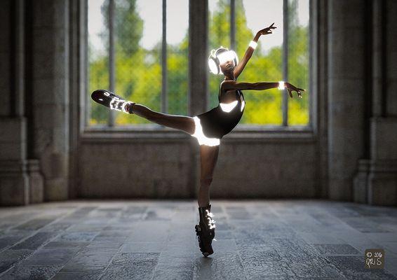 Neon Punk Ballerina