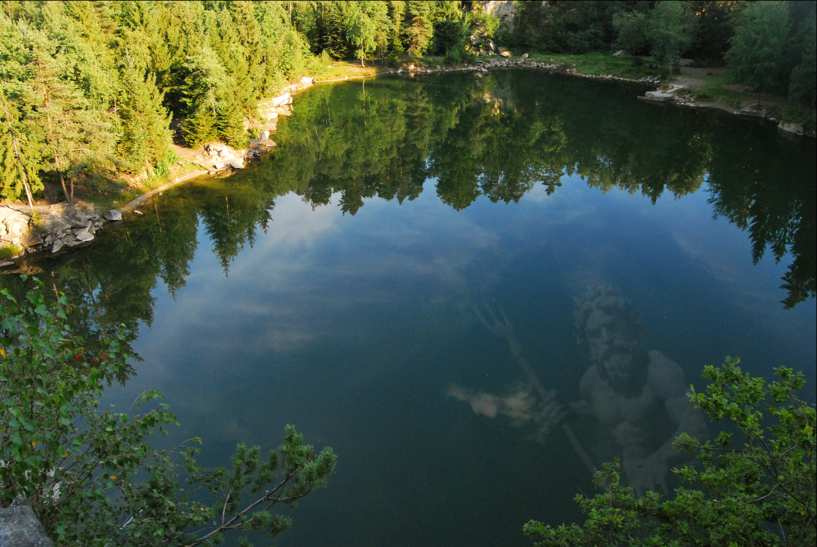 Neptun im Bergholzsee ...