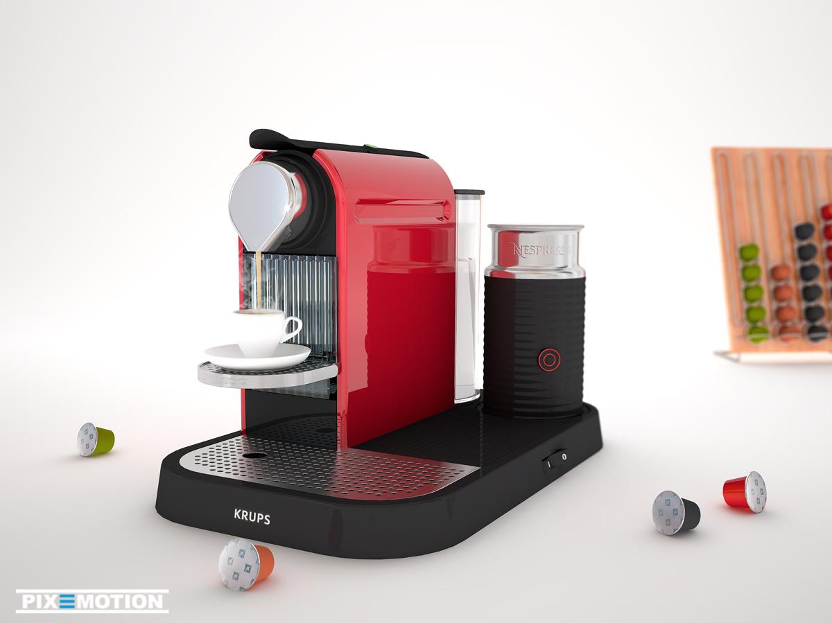 Nespresso Citiz mit Milchschäumer