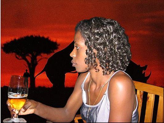 Nette Kamba in Kenia