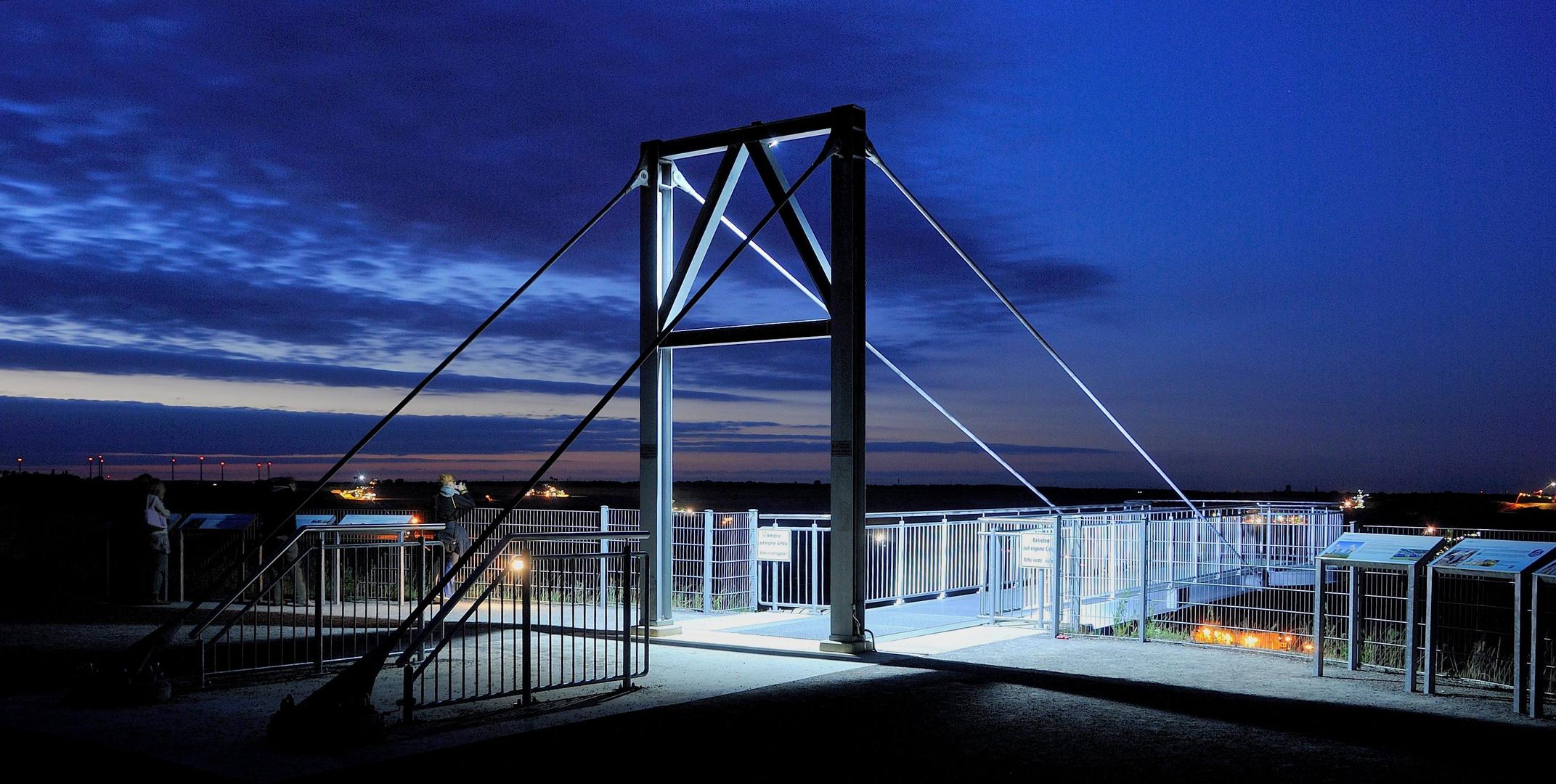 Neue Aussichtsplatform ( Skywalk ) des Tagebaus Garzweiler