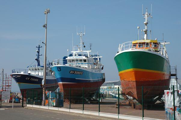 Neue Farben an alten Schiffen