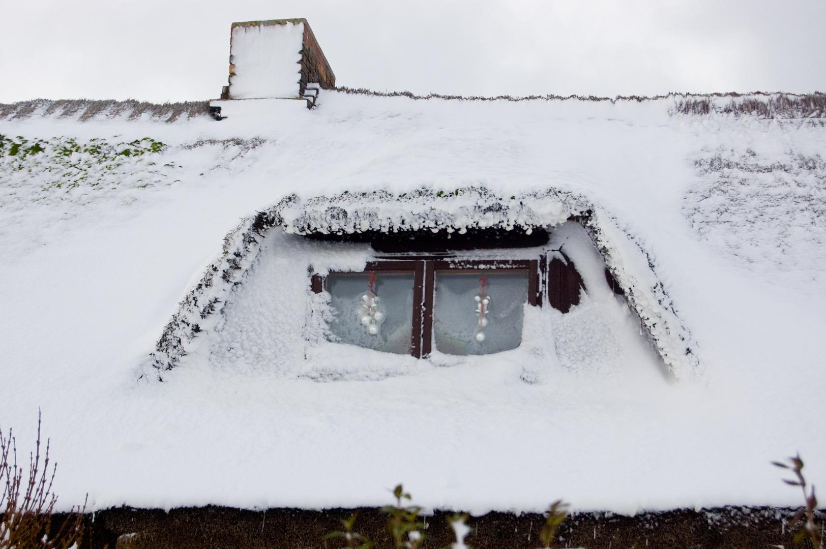 Neue Schneegardinen.. Dank Schneesturm
