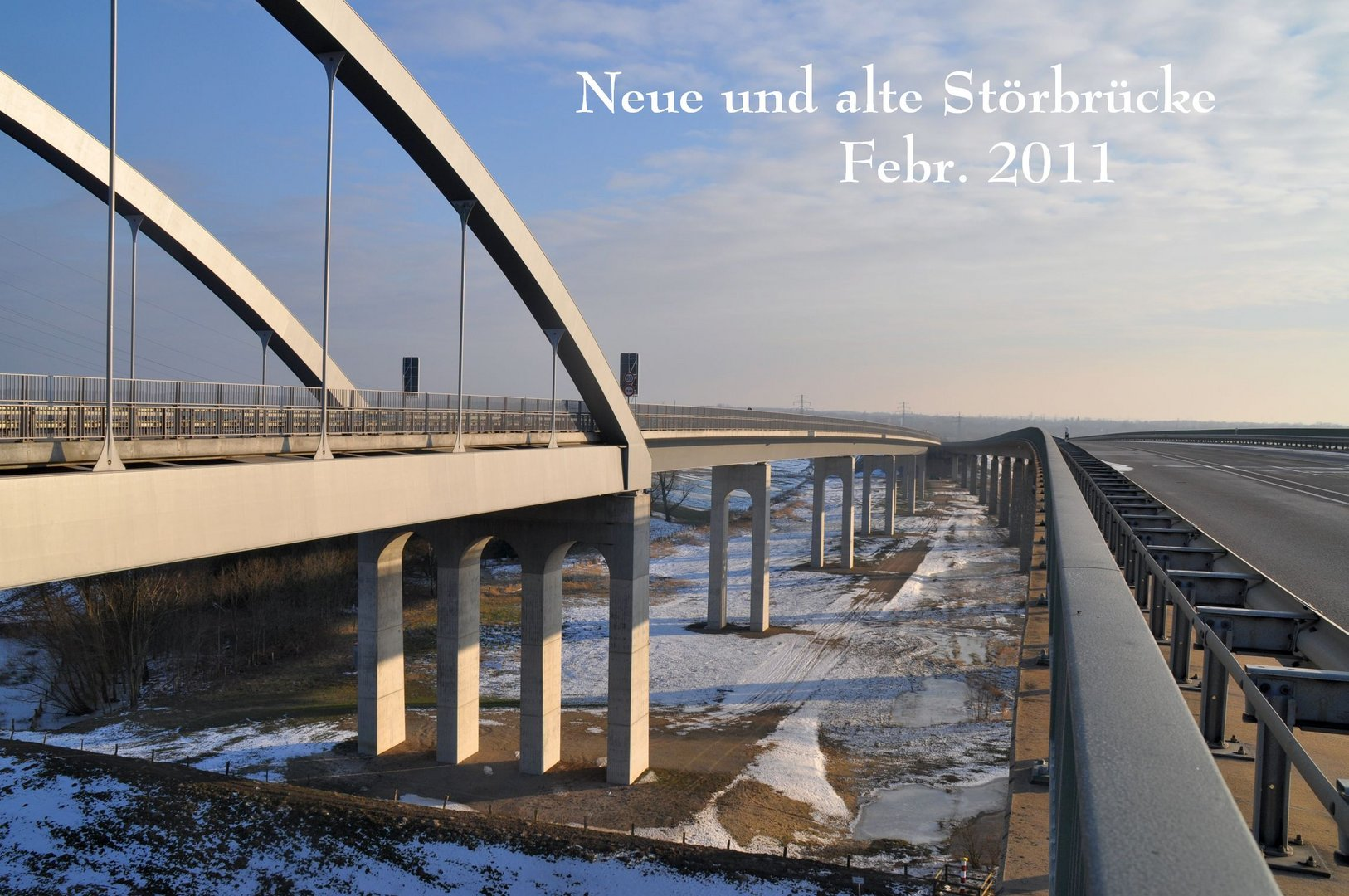 Neue und alte Störbrücke in Itzehoe