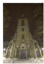Neuenkirchner Kirche bei Nacht