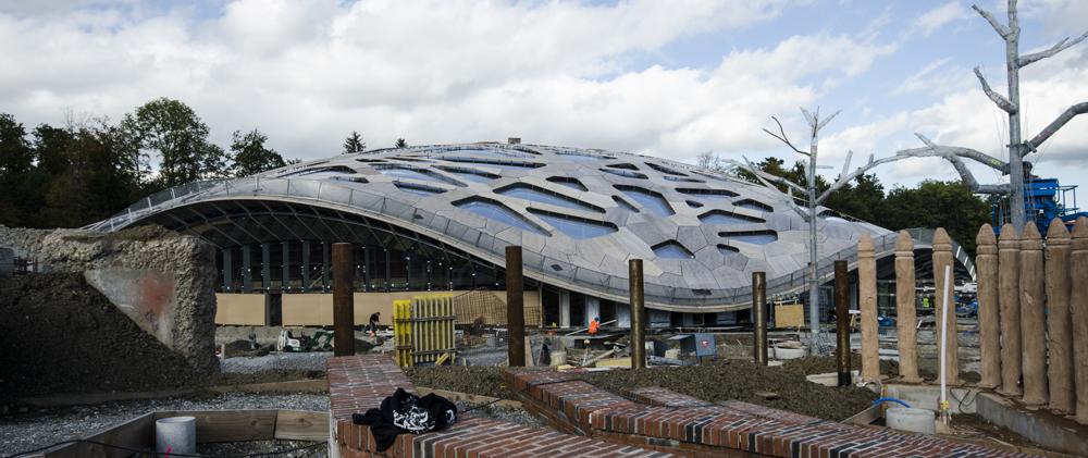 Neues Elephanten-Haus im Zoo Zürich Aussenansicht
