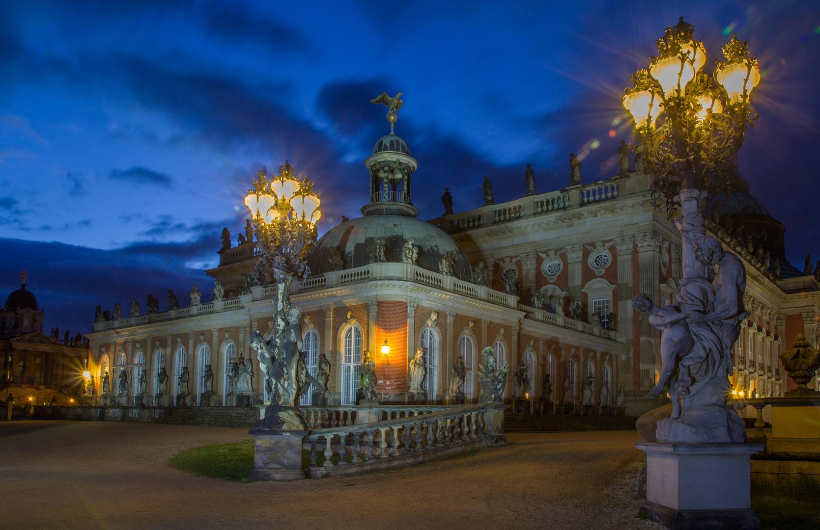 Neues Palais Nachtwächteransicht