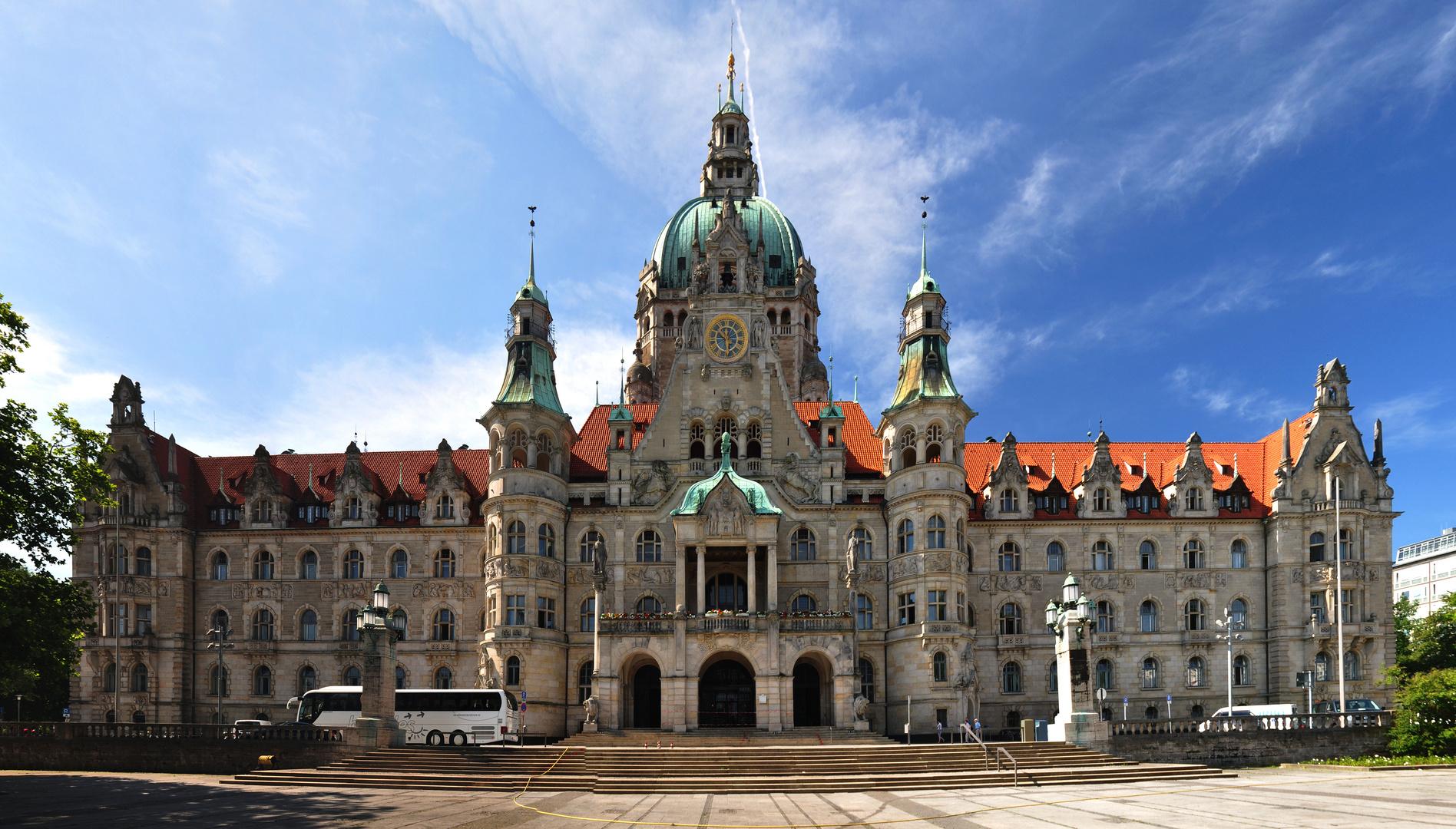 Neues Rathaus Hannover - Stadtansicht