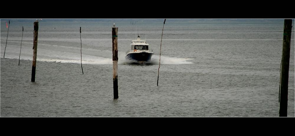 Neuharlingersiel ... Bootsfahrt auf dem See...