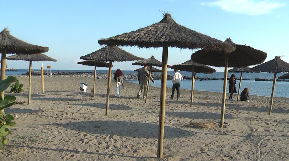 Neujahr am Strand von Marbella