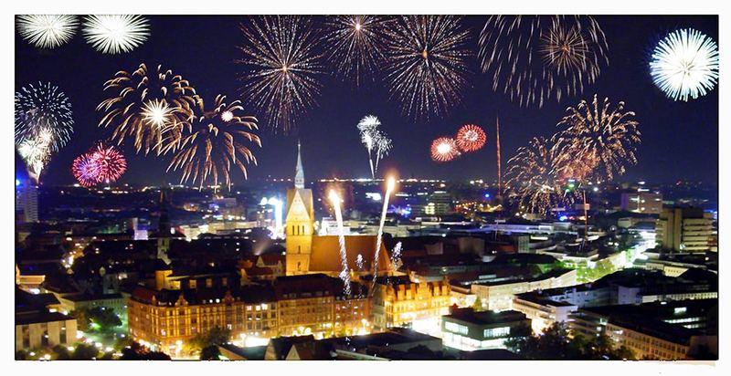 Neujahr in Hannover