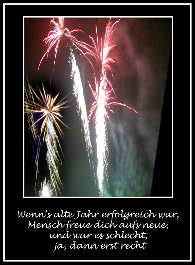 Neujahrsgrüsse...