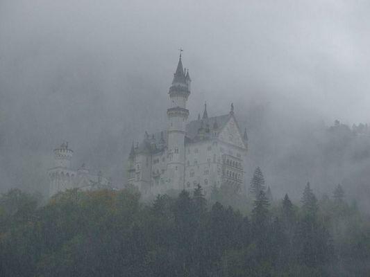 Neuschwanstein Bei Regen