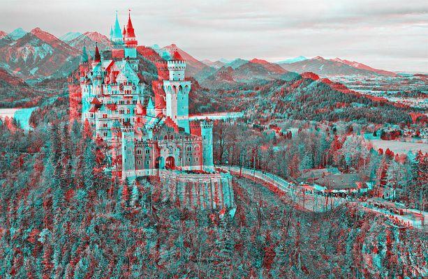 Neuschwanstein in 3D