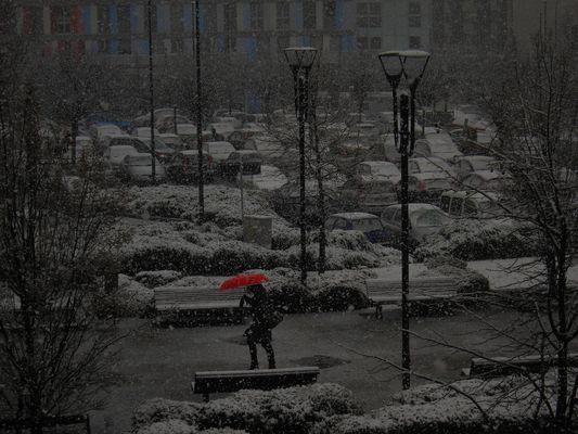 Neve al parcheggio