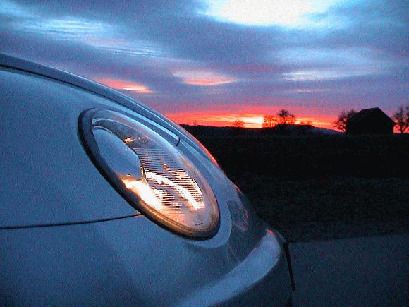 New Beetle RSI / Scheinwerfer im Abendrot