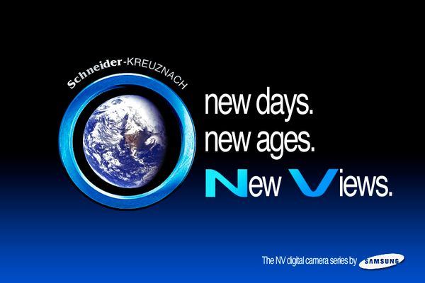 new days. new ages. New Views. The NV digital camera series by Samsung. ©
