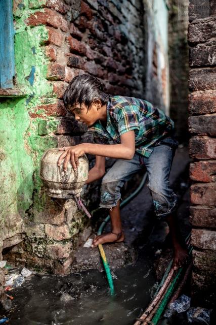 New Delhi, Puppet Colony Slums