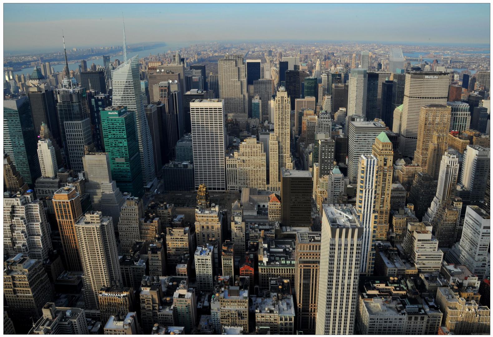 New York 2011, vista del Empire State Building al norte, dedicada a Biggi Evi Seidel