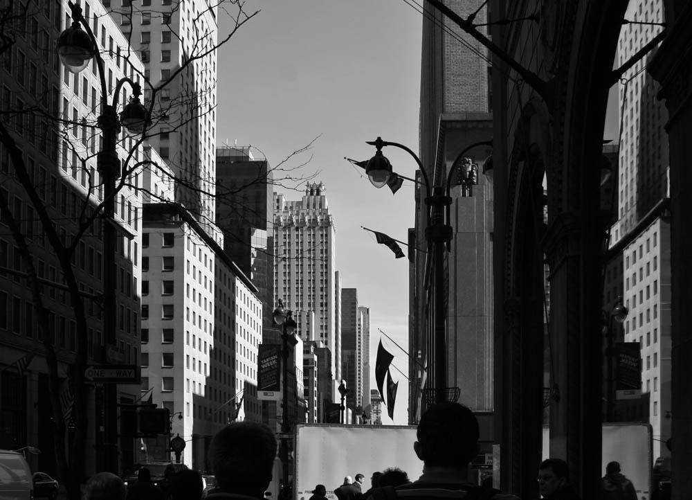 New York 42 St im Frühjahr