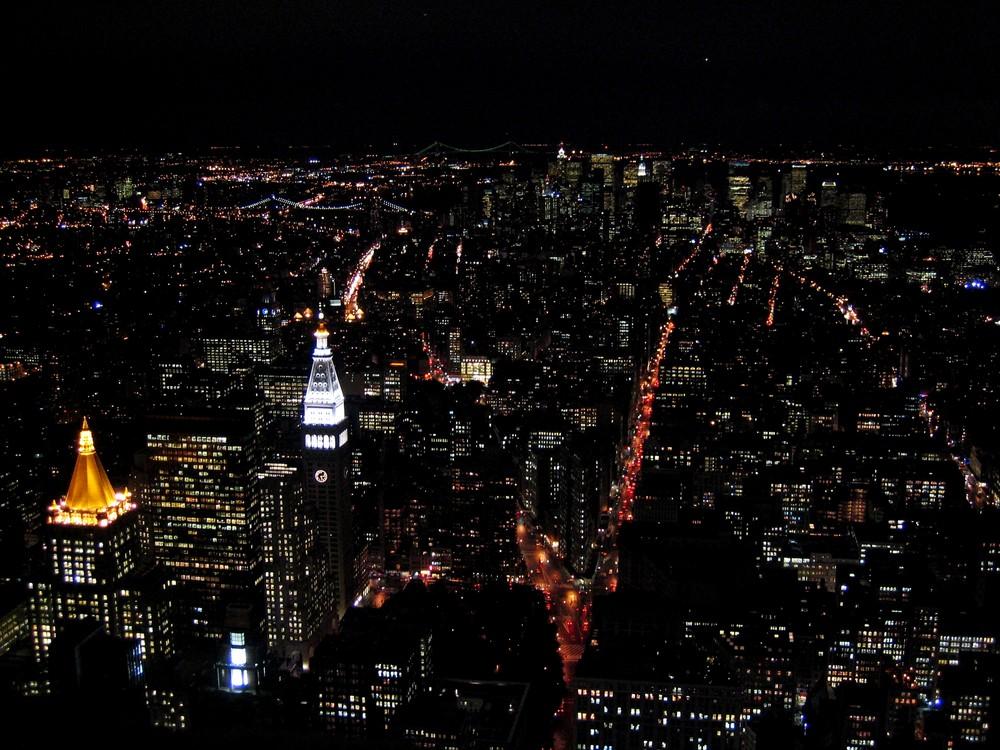 New York bei Nacht 2